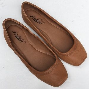 EUC Lucky Brand leather flats